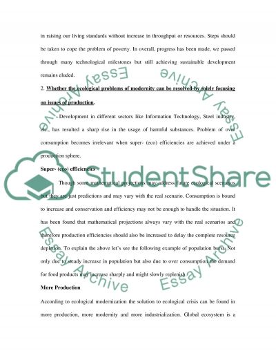 Sustainable Enterprise essay example