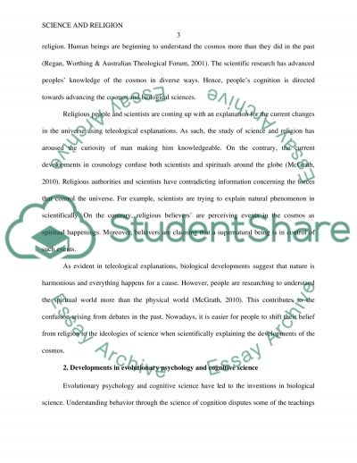 Science and Religion essay example