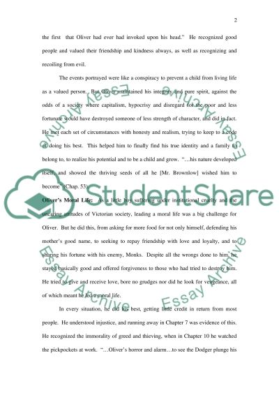 Oliver Twist by Charles Dickens essay example