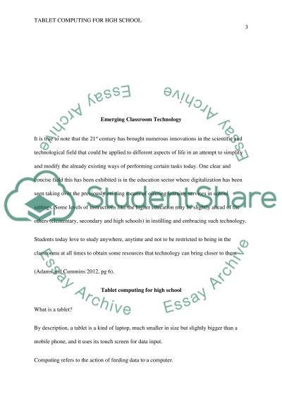 Emerging ClassroomTechnology essay example