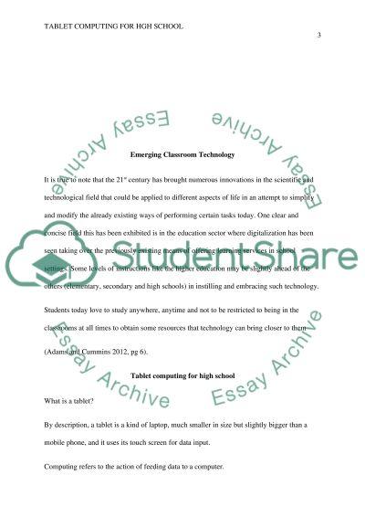 Emerging ClassroomTechnology