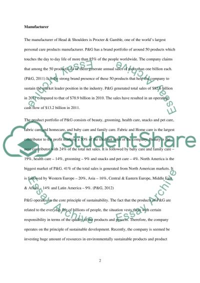 Head and Shoulders Research Paper example