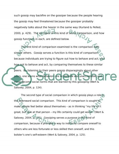 GOSSIP essay example