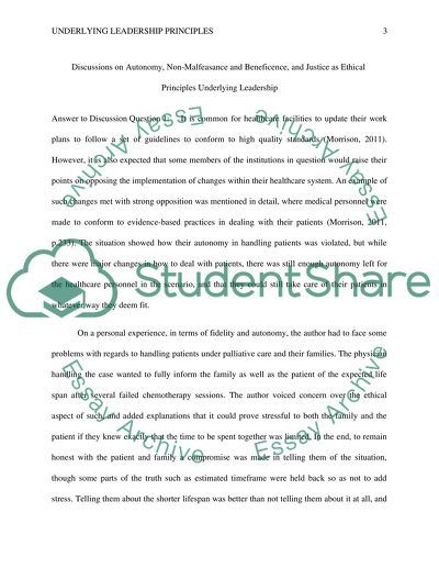 Ethical leadership essay