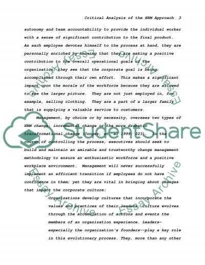 Selfridges Value System essay example