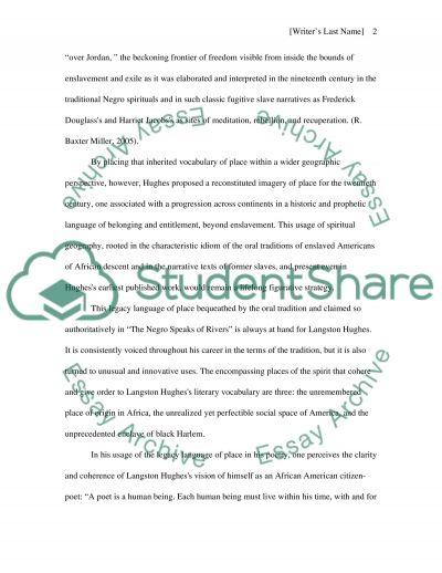Langston Hughes Poem essay example