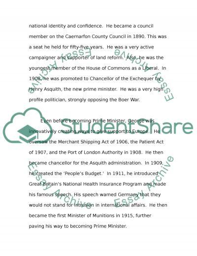 Lloyd George Case Study