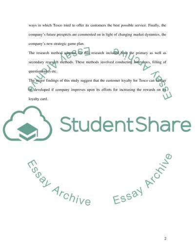 CRM (Tesco) essay example