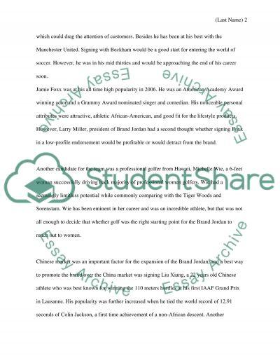 Brand Jordan Case Write-Up essay example