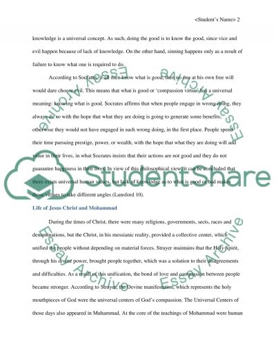 questions and answers Essay example