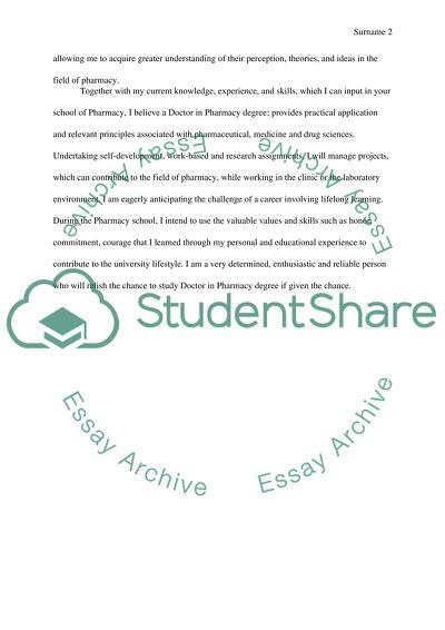 pharmacist essay paper