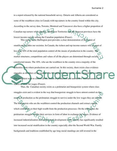 Sociology - Social stratification essay