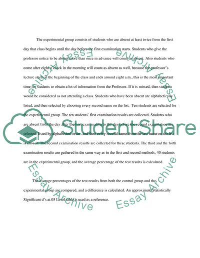 Classroom Attendance and Learning Process