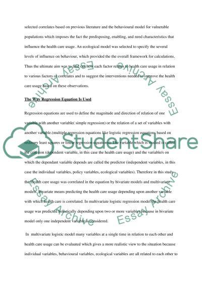 Logistic Regression in Nursing Practice essay example