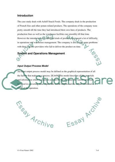 System and Operations Management:Current Issues being faced by the Organisation. Essay example