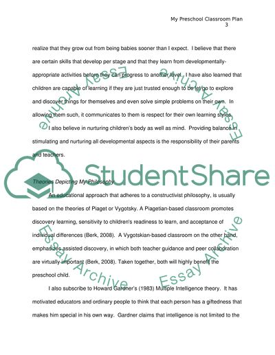 The Classroom Plan