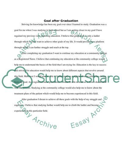 Goal after graduation