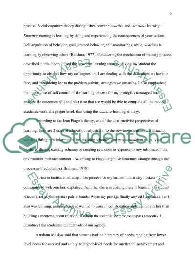 Education in practice Essay example