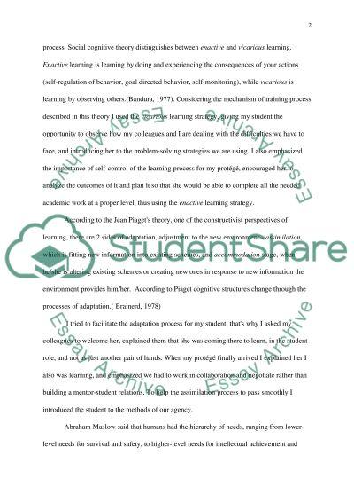 Education in practice essay example