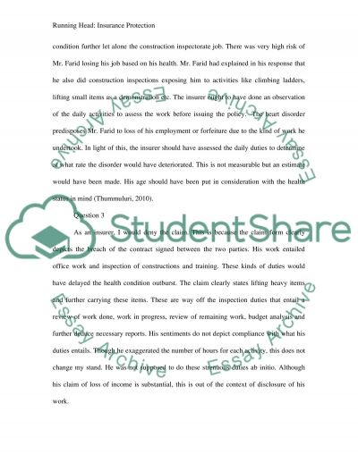 Insurance Case Study essay example