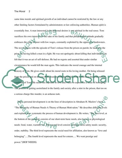 Topics For An Essay Paper The Moral Development Of Tom Joad In The Grapes Of Wrath Example Essay Thesis also Good High School Essay Topics The Moral Development Of Tom Joad In The Grapes Of Wrath Essay Global Warming Essay In English