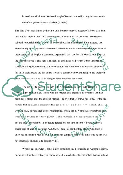 Essay For Health Religion In Things Fall Apart Personal Essay Samples For High School also Essay On Good Health Religion In Things Fall Apart Essay Example  Topics And Well  Persuasive Essays Examples For High School