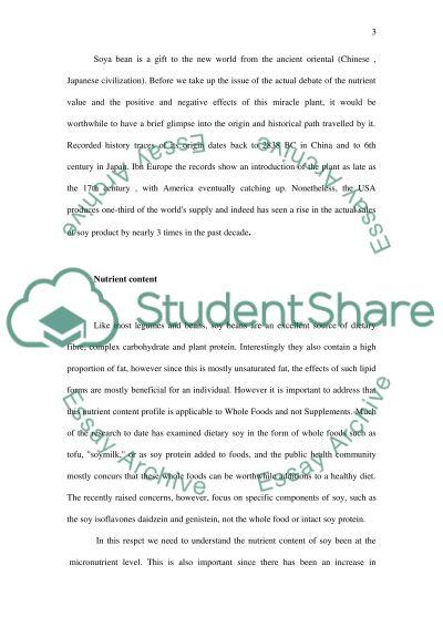 Soya-bean essay example