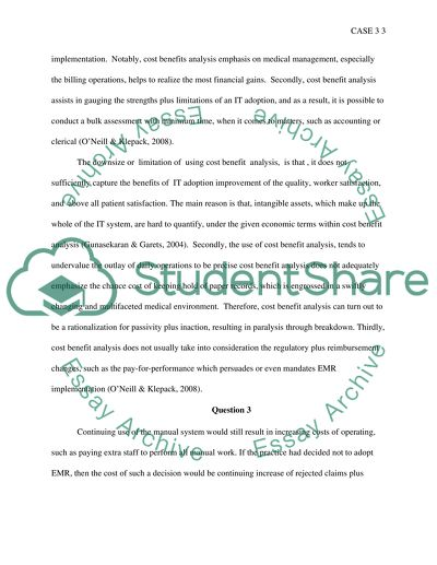 Electronicam Medical Records Essay Example | Topics and Well Written
