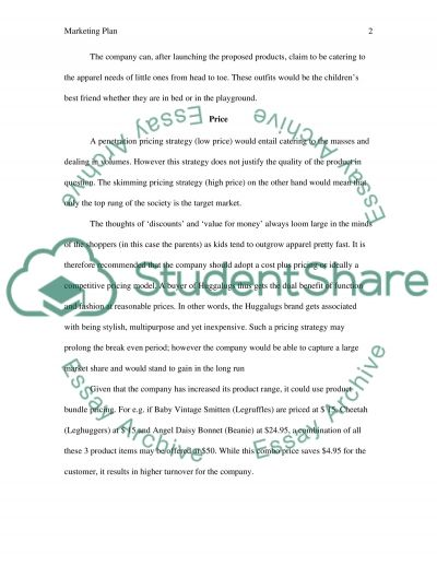 Marketing plan essay example