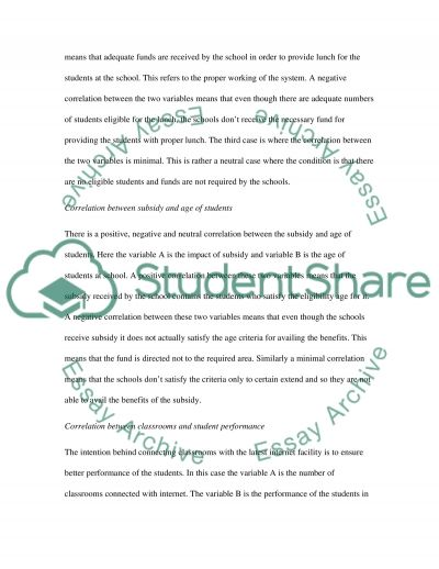 Correlation essay example
