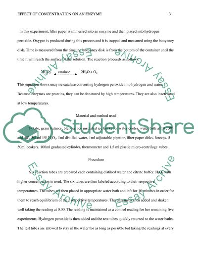 Essay on concentration