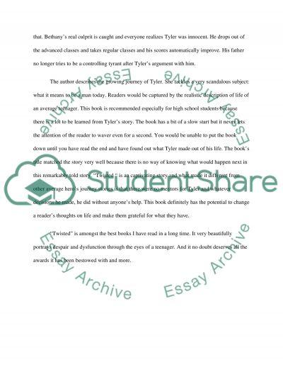 Examples List on 1250 Word Essays