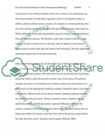 International Marketing Master Essay essay example