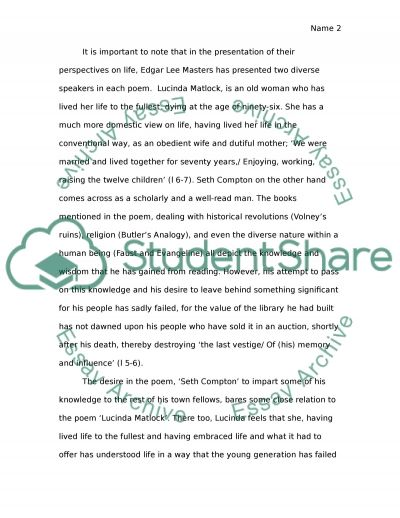 edgar lee masters essay example topics and well written essays related essays