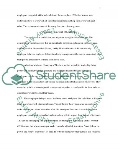 Graduate Reflection Paper 3(a) essay example