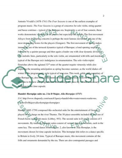 Rhapsody reseach paper ( Time Capsule ) essay example