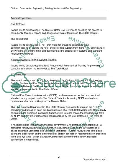 Civil and Construction Engineering, Building Studies and Fire Engineering Essay example