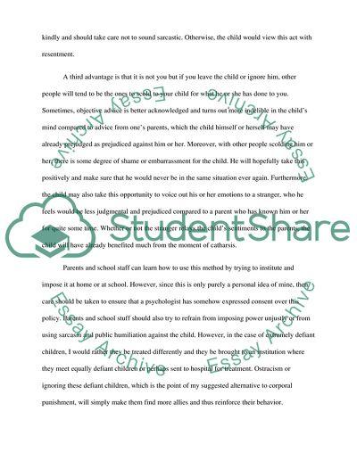 child discipline and corporal punishment essay example  topics and  child discipline and corporal punishment