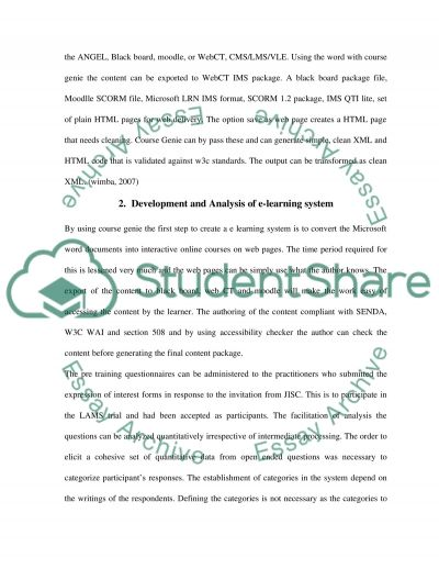 E-learning system essay example