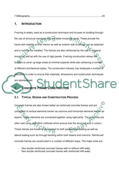 Framing Construction Techniques Essay example