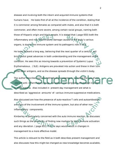Lupus research paper write essays for scholarships