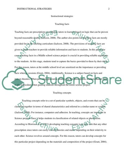 Instructional Strategies Concept Paper 2