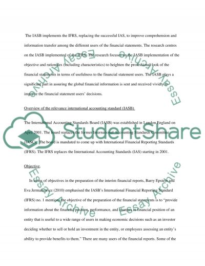 Advanced Financial Reporting and Regulation: Interim Financial Reporting essay example