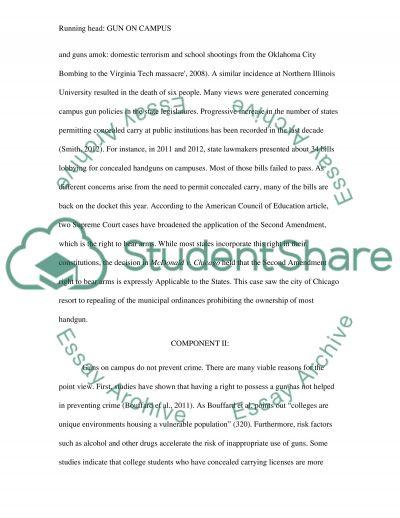 Gun on campus position paper
