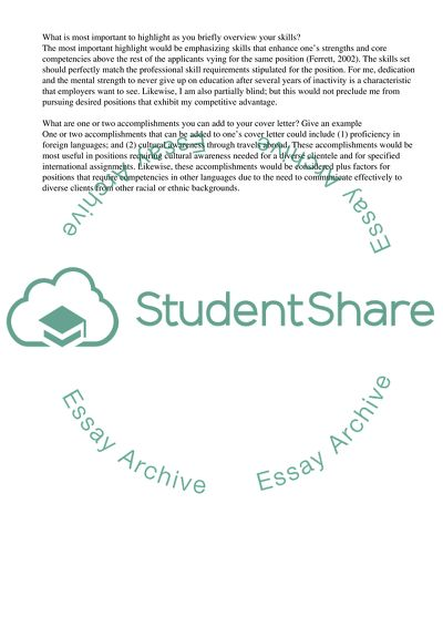 Components Of A Cover Letter from studentshare.org