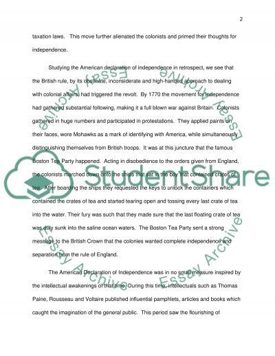 Amercian History Essay essay example