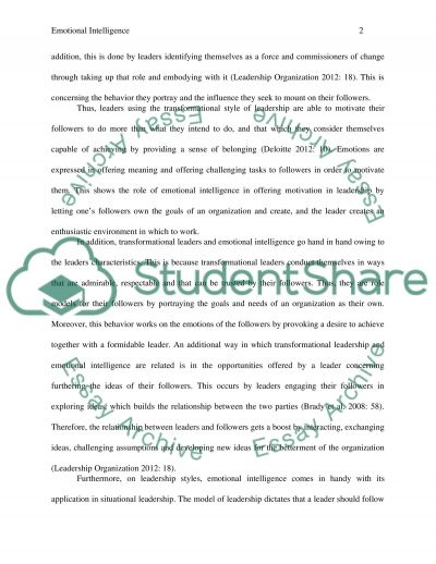 emotional intelligence essay example topics and well written  emotional intelligence essay example