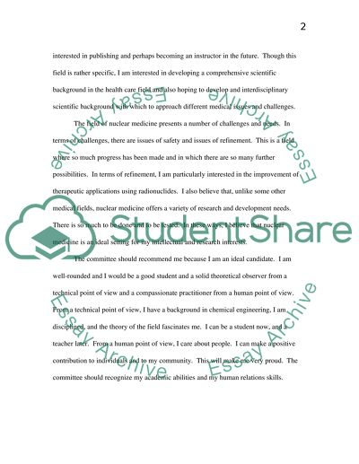 Personal statement, Career and Education