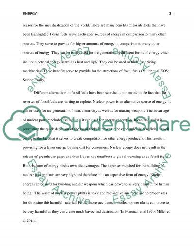 Energy essay example