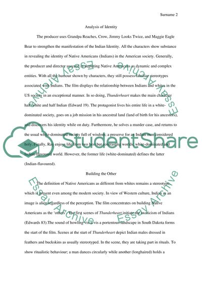 Thunder Heart Essay Example  Topics And Well Written Essays    Read Textpreview
